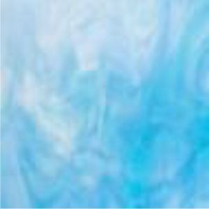 3116-30 Clear, Turquoise Blue, White