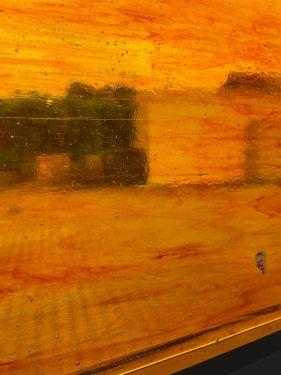 brownred/amber transp. 30x30cm