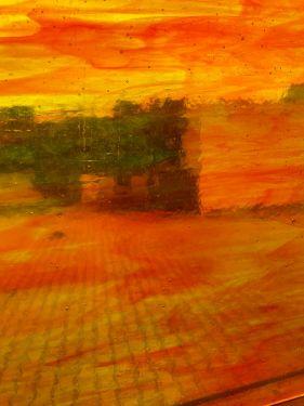 sunset orange/yellow transp. 30x30cm