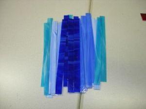 glasstroken 2x30 cm blauw mix per 10 stuks