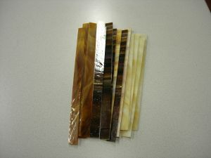 glasstroken 2x30 cm amber mix per 10 stuks