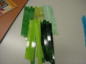 glasstroken 2x30 cm groen mix per 10 stuks