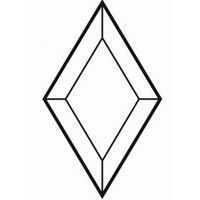 Bevel Rhombus 38x63.5mm