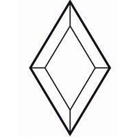 Bevel Rhombus 101.6x177.8mm