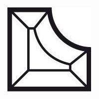 Bevel Inner corner 89x89x25.4mm