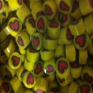 yellow with red heart 25 gram miiflori coe 104