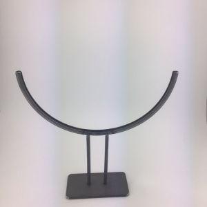 standaard half rond 30cm met voet rvs