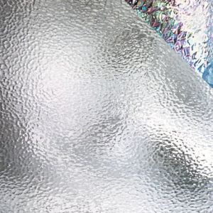 100H-f iri  Clear Hammered, Iridescent