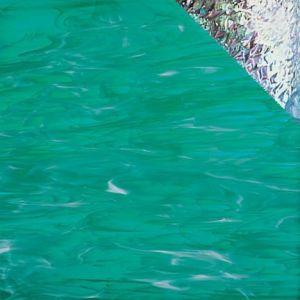 I/823-92 Teal Green/White, Iridescent