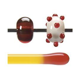 Glass rod 1022 F red orange