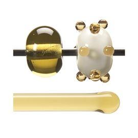 Glass rod 1437 F light amber