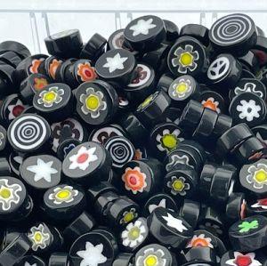 Zwarte millefiori mix