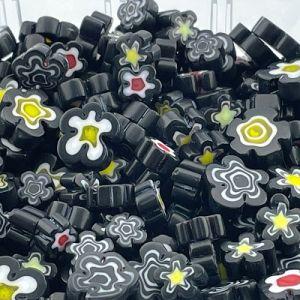 zwarte bloemen millefiori mix