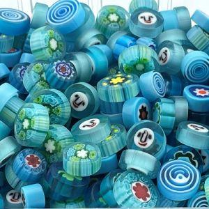 zeeblauwe millefiori