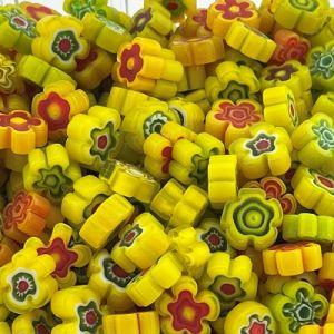 millefiori bloemen geel mix