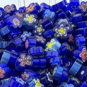Blauwe bloemen millifiori mix