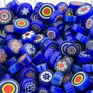 millefiori kobaltblauw mix