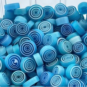 zeeblauwe swirl millefiori