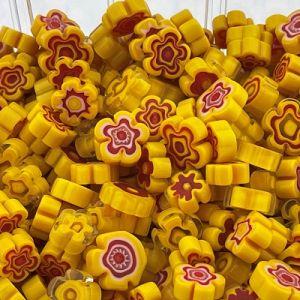 Zonnebloemgeel bloemen millefiori mix