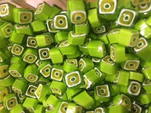 green square 25 gram millefiori coe 104