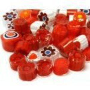 red mix 25 gram millefiori coe 104