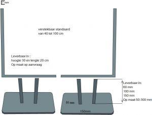 switch verstelbaar set van twee u profiel letop foto wijkt af