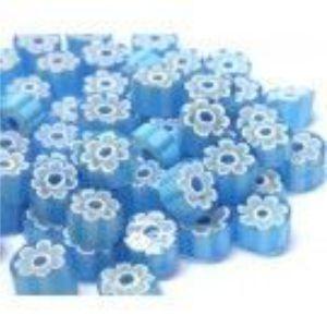 light blue flower 25 gram millefiori coe 104